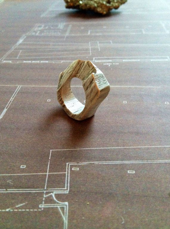 Abstract Solid Streling Silver Ring // Limited by InesAnaisRain