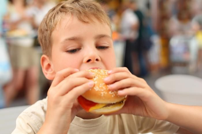 Go pure, remove fast food.  It will help heal the body of Crohn's & Colitis and it will raise your child's I.Q. by stopping.