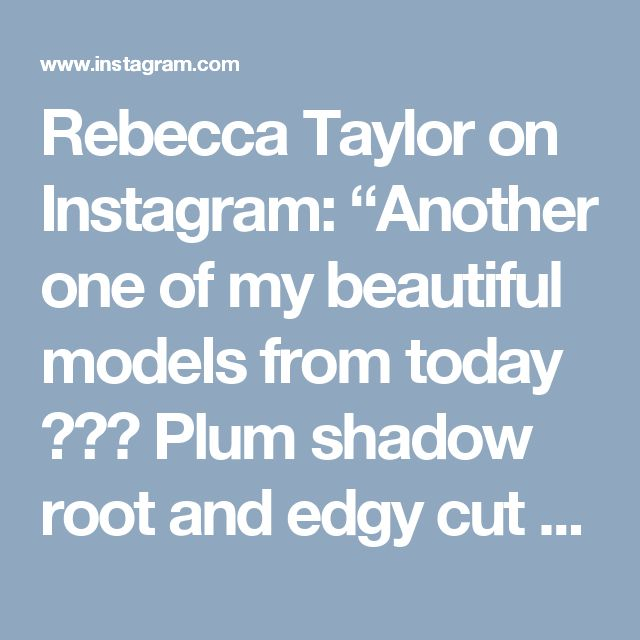 """Rebecca Taylor on Instagram: """"Another one of my beautiful models from today 💜💜💜 Plum shadow root and edgy cut FTW 👊🏼 #shorthair #edgy #pixie #pixiecut #haircut"""" • Instagram"""