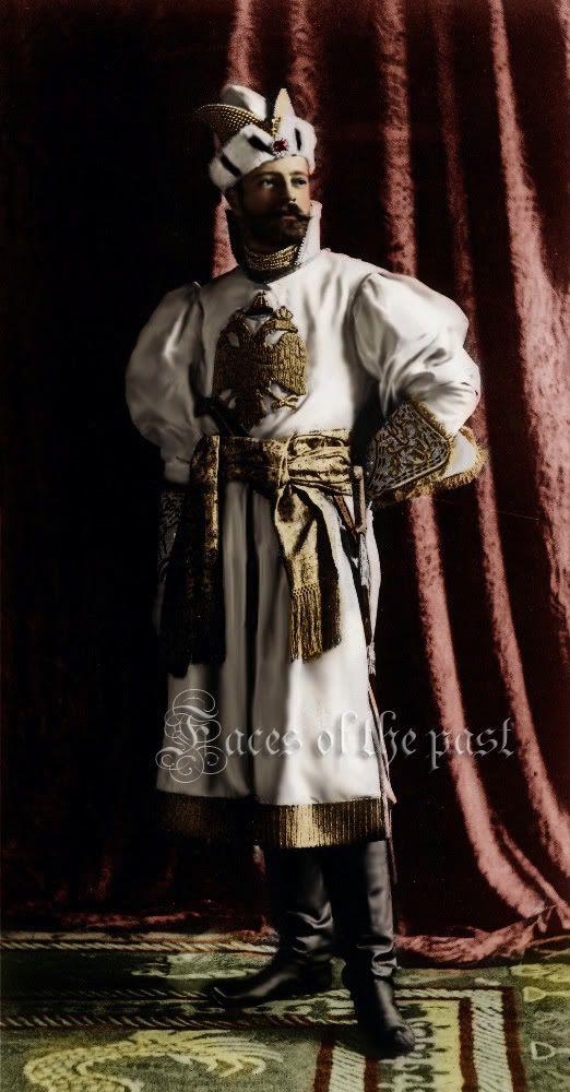 Grand Duke Alexander Mikhailovich Romanov at the Winter Palace Costume Ball of 1903.