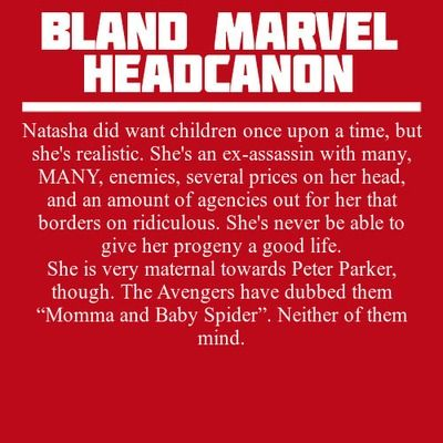 Bland Marvel Headcanons | Warm feels... (: I love the spider thing they share.