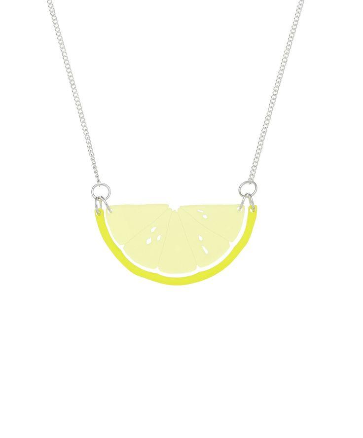 Citrus Slice Necklace - Lemon, £25: http://www.tattydevine.com/citrus-slice-necklace-lemon