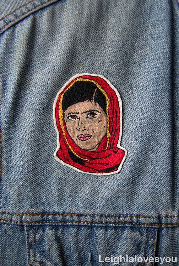 CHARITABLE Malala Yousafzai Embroidered by LeighLaLovesYou on Etsy
