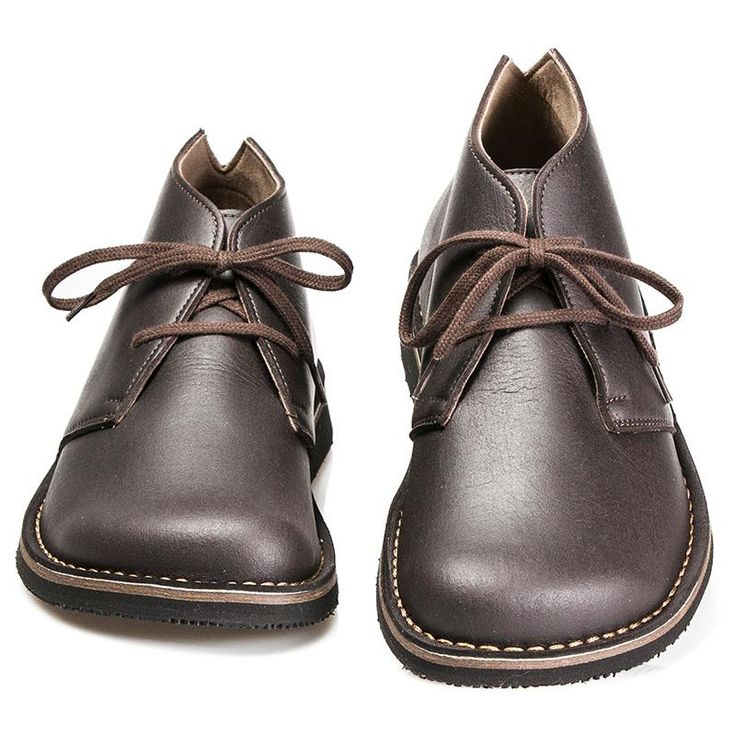 Vegan shoes: Desert Boot Wide - Cacao Grease - from Cammina Leggero.