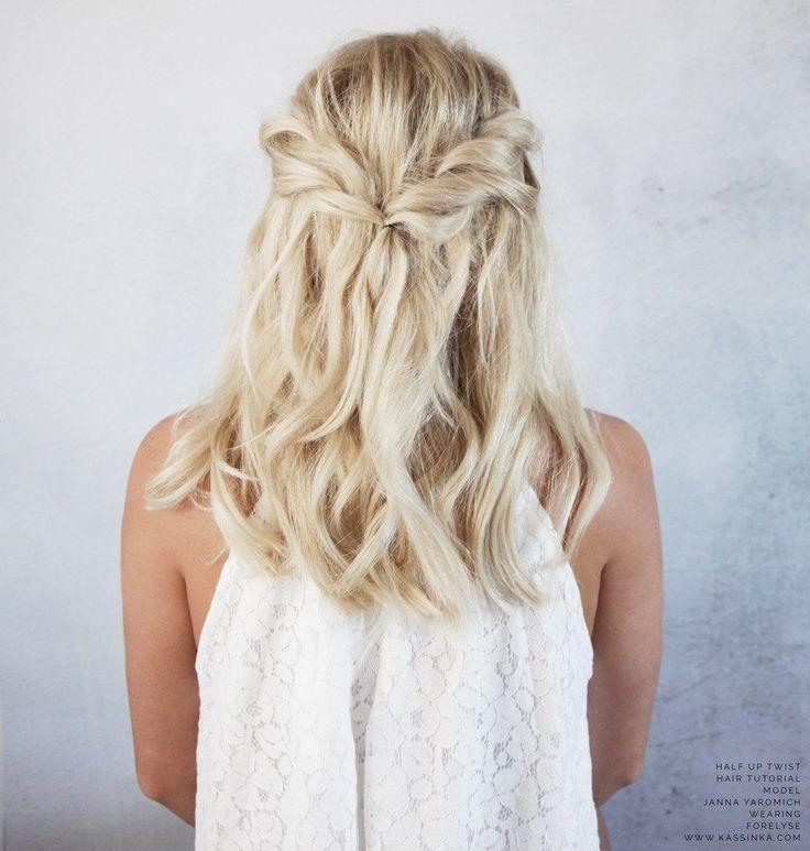 KASSINKA - Twist half up hair tutorial for shorter hair // Model @jannaYaromich