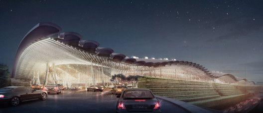 Rogers Stirk Harbour + Partners (RSHP) winning proposal for Taiwan Taoyuan International Airport