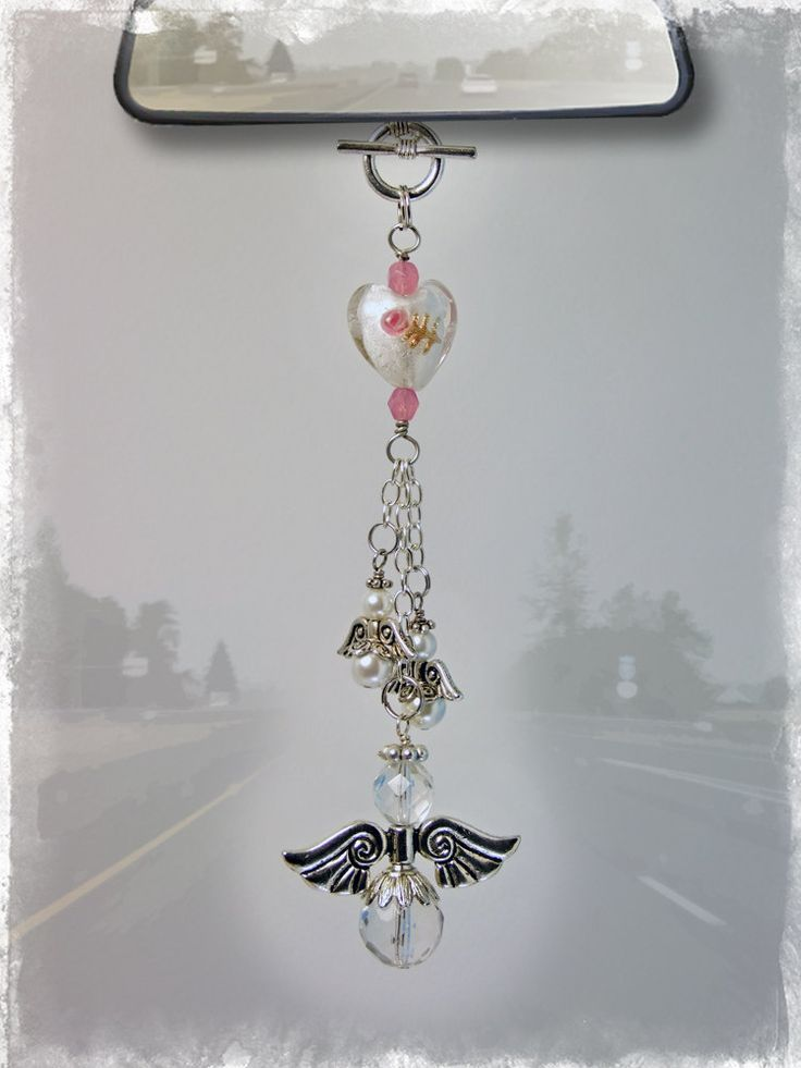 DIY your photo charms, 100% compatible with Pandora bracelets. Make your gifts special. Make your life special! Angel Car Charm - Rear View Mirror Car Accessories   Our Bead Box™ Blog