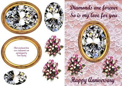 wedding anniversary on Craftsuprint - Add To Basket!