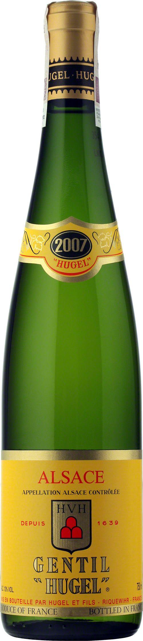 Wino Sylvaner - Hugel Gentil Alsace A.O.C. Kilka dekad temu, terminem Gentil nazywano najlepsze wina alzackie, skomponowane ze szlachetnych odmian winogron. Wyprodukowane ze szczepu sylvaner, ale ponad połowę składu stanowią odmiany - tokaj pinot gris (budowa), riesling (szlachetność), gewurztraminer (aromat przypraw) i muscat (owocowość). #Alzacja #Hugel #Gentil #sylvaner #wino #winezja