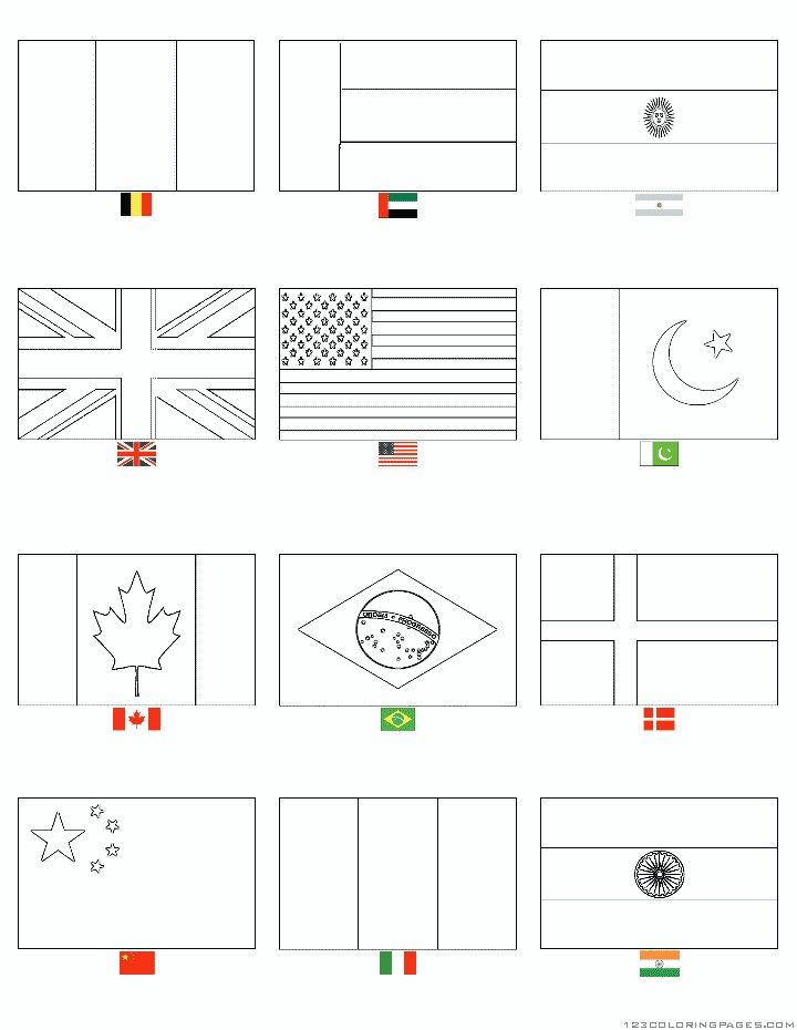 flag coloring pages