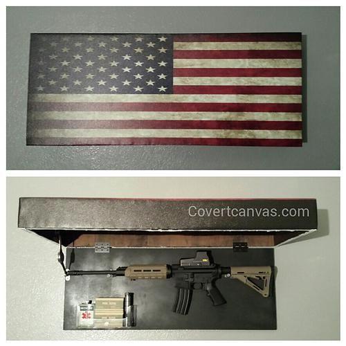 Covert Canvas Hidden Gun Safe More