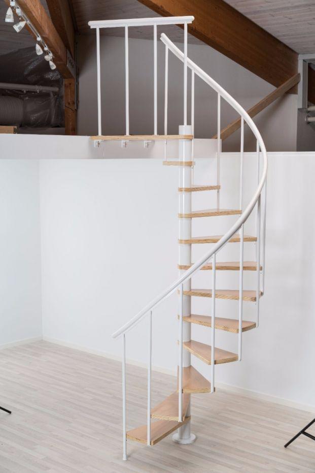 Dolle Calgary White Spiral Stair Kit (1200mm) | Loft Centre