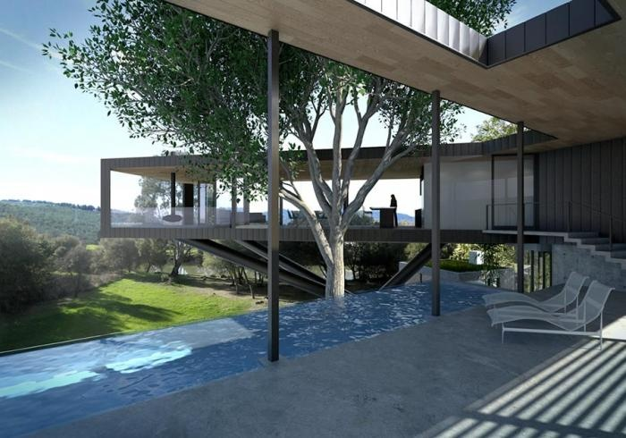 Set on the Napa River, a pool in a project by SF-based architect Craig Steely. Photo courtesy of Craig Steely Architecture.