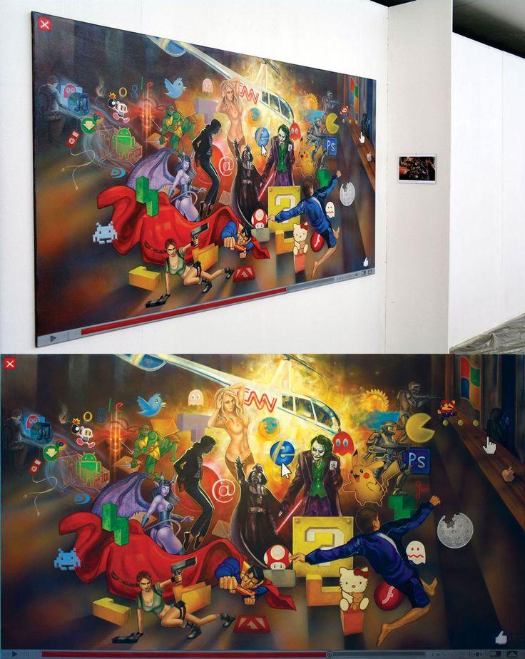 """Melancholia"", akryl na płótnie. #art #painting #cyberculture #internet"