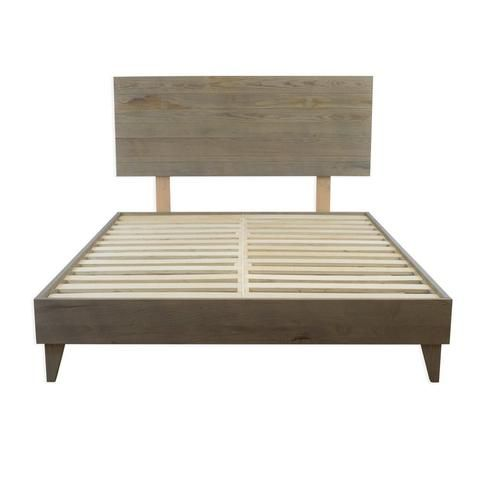 Add this charming Mid-Century Modern platform bed to your bedroom for a retro-chic look. Purchase luxury home furnishings online now at eLuxurySupply!