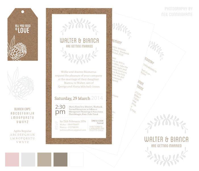 Andrea Barras. Wedding Stationery: Bianca & Walter