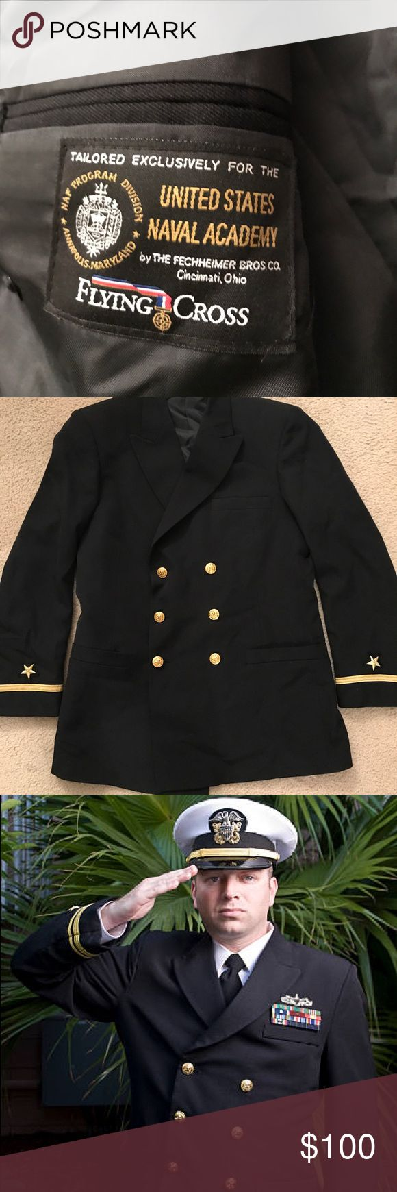 United States Navy Ensign (0-1 - officer) blazer. Only 1% of the population in this country serves in the military. 82% make up enlisted ranks and 18% are officers. Get your hands on this RARE commodity that only 18% of the brave men and women that serve in the U.S Navy wear. Your friends and family will want to see this!!! This is PRICELESS!!! U.S Navy Suits & Blazers Sport Coats & Blazers