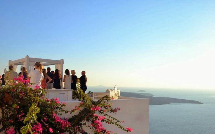 Wedding in Santorini ~ Weddings in Greece -Amazing setting in Santorini