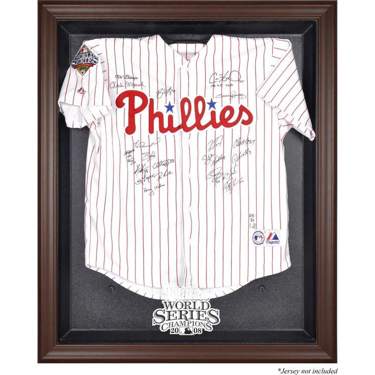 Philadelphia Phillies Fanatics Authentic 2008 World Series Champions Brown Framed Logo Jersey Display Case - $159.99