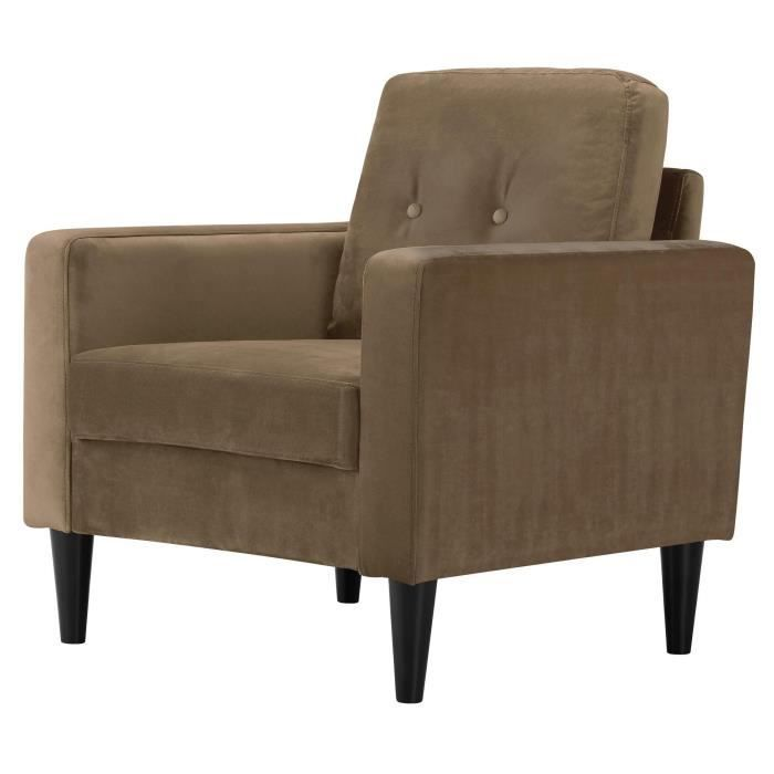 Ibra Velvet Fauteuil Velours Taupe Classique L 80 X P 81 Cm Fauteuil Velours Fauteuil Et Chaise De Bureau Confortable