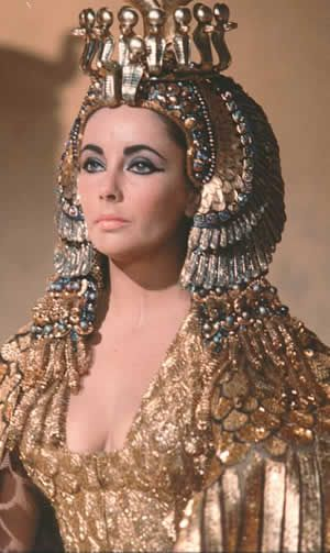 The great Elizabeth Taylor as the most famous of the Cleopatras
