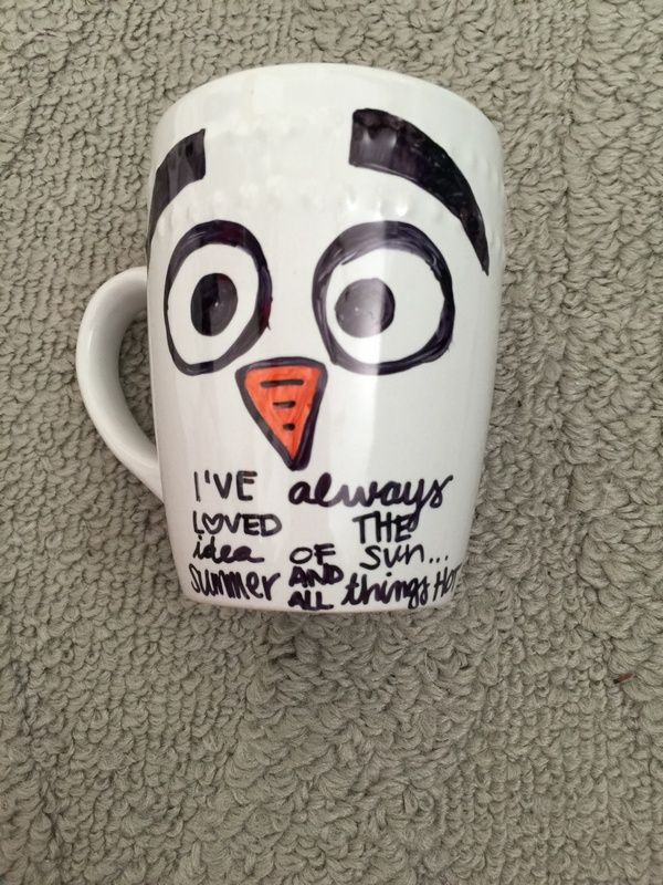 Olaf Mug Disney Frozen Craft for kids Makes a Perfect Handmade Gift idea this Christmas season