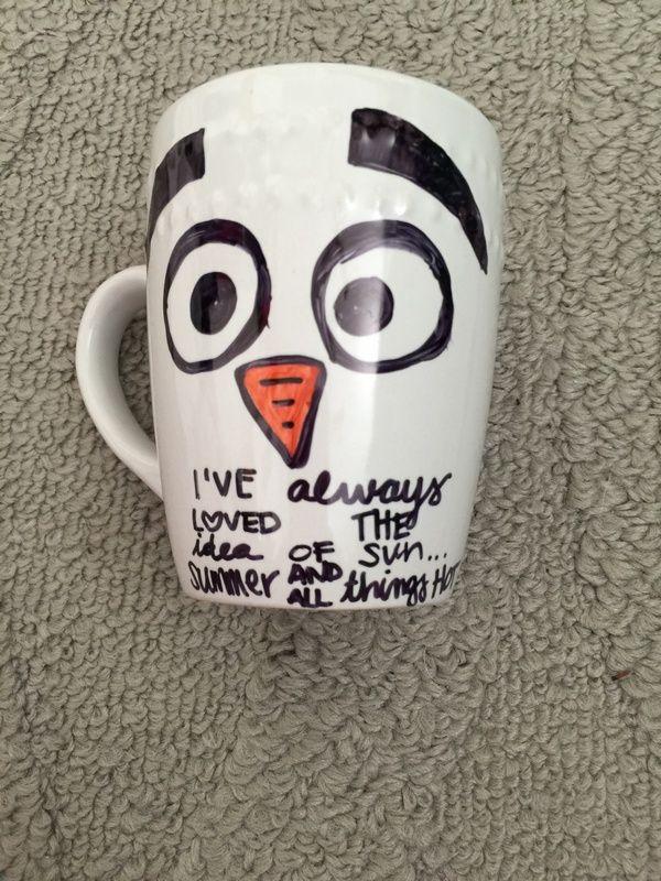 Olaf Mug Disney Frozen Craft for kids Makes a Perfect Handmade Gift idea this Christmas season
