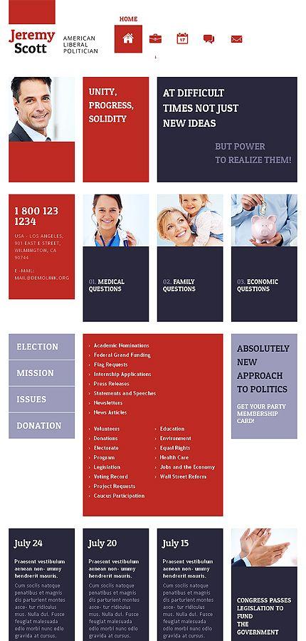 Best Politics Website Design Images On   Design