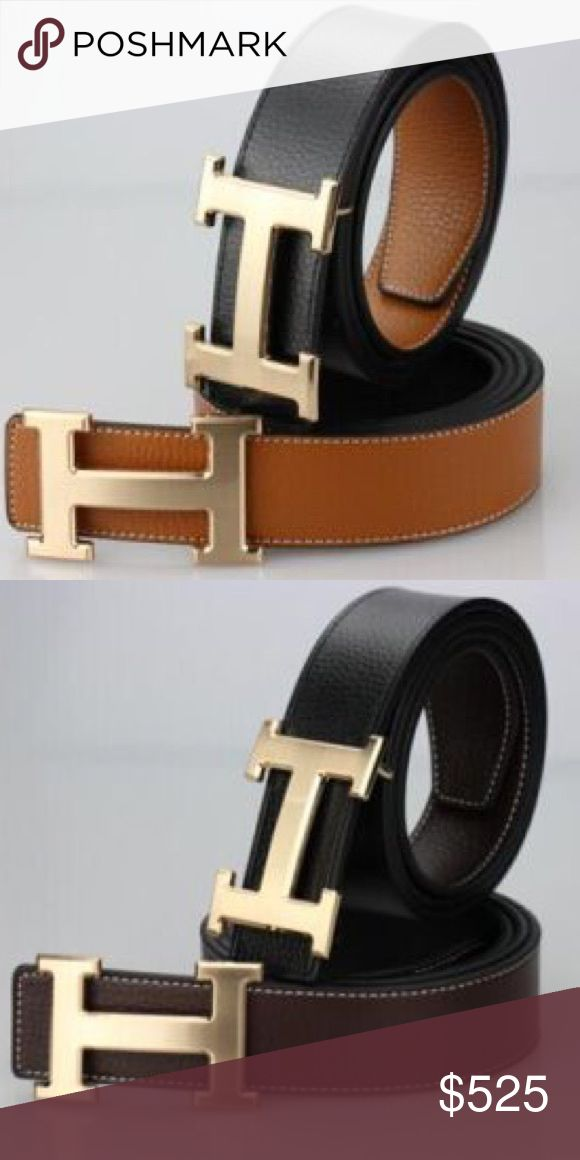 Hermes black brown reversable My mom has these two colors she can get, it'll be a week or so and she'll ship it to me if you are willing to purchase :) same rules before, I do 🅿️🅿️ because of how much posh takes. After I provide authenticity and tracking number Hermes Accessories Belts
