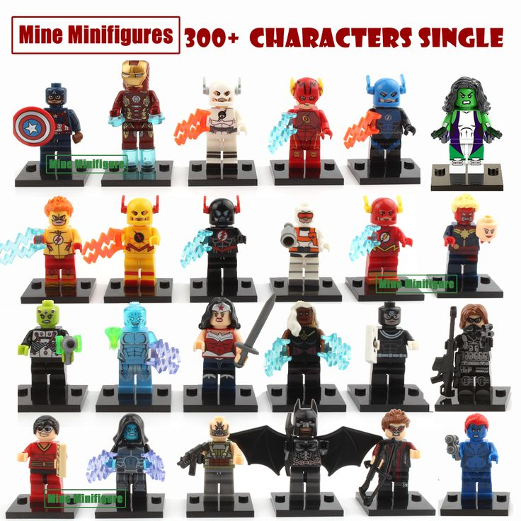 The  Marvel DC Super Heroes Single Sale Action figures Building Block Kids Toys New Kids Gift Compatible With Lego