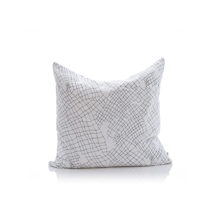 white net organic cotton large cushion cover – PENNEY + BENNETT
