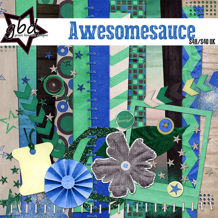 Awesomesauce :: Full & Mini Kits :: Memory Scraps