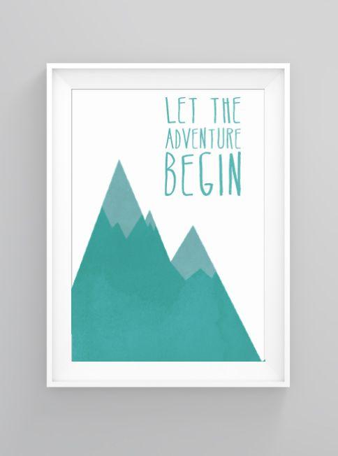 Adventure begins | print