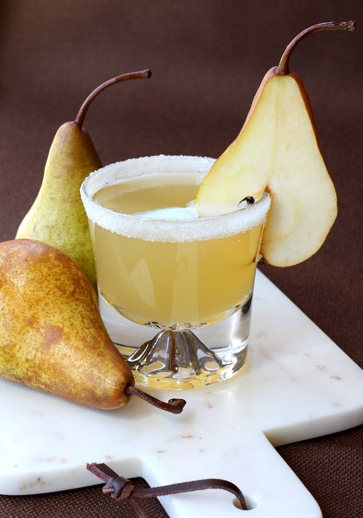 This Pear Brandy Cocktail is a little sweet but also packs a punch!