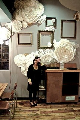 Everyday objects in the hands of creative artist turns into something extraordinary! - Big coffee filter formed into flowers!