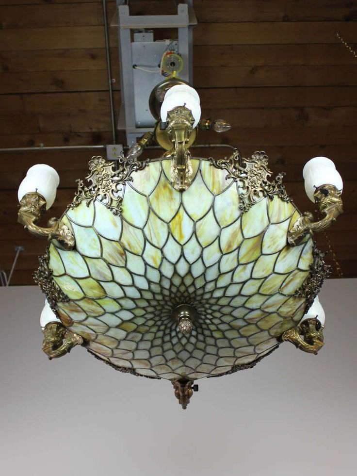 Tiffany Glass Chandelier