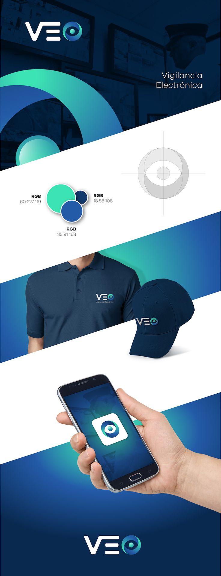 VEO - Logo Vigilancia Electronica Marcas Diseño interactivo Diseño gráfico