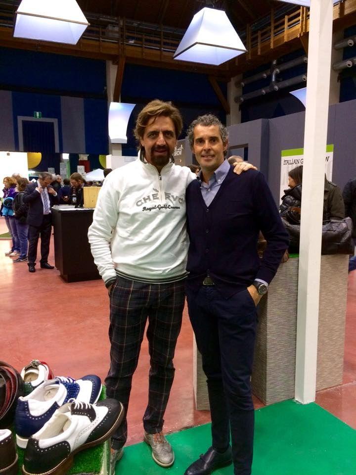 Valerio Staffelli allo stand Raimondi..  #raimondigolfshoes #golfshoes #italiangolfshoes #madeinitaly #handmadeinitaly #italianstyle #parma #fierediparma #italiagolfshow