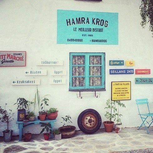 Frankrike på Gotland. Imorgon öppnar @jakobringbom Hamra krog för säsongen. Se vilken underbar entré! Är det regn tänder de säkert den fina öppna spisen! Rendez-vous!