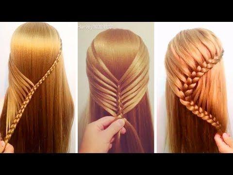 Peinados Para Niñas 2017/Peinados para cabello/ Peinados Faciles rapidos/Trenzas Faciles (186 - YouTube