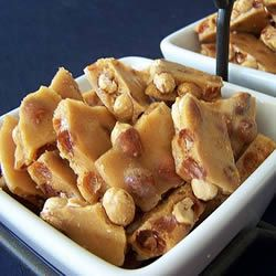 Microwave Oven Peanut Brittle - ridiculously easy recipe. Different watt microwaves need different cooking time.  I used salted dry roasted peanuts, tasted fine. Can reduce baking soda by half if want, some people can taste it (I couldn't).