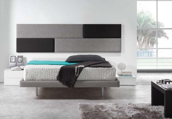 cabecero tapizado colgado 14 - cama tapizada piel,polipiel o tela