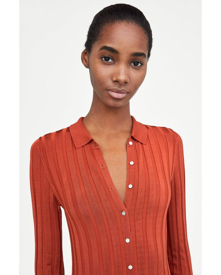 RIBBED DRESS WITH POLO COLLAR-NEW IN-WOMAN | ZARA Hong Kong S.A.R. of China