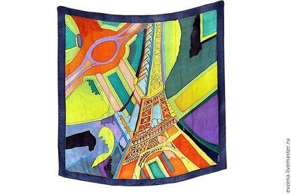 Эйфелева башня .По мотивам картины Робера Делоне - рисунок,Париж,комбинированный цвет