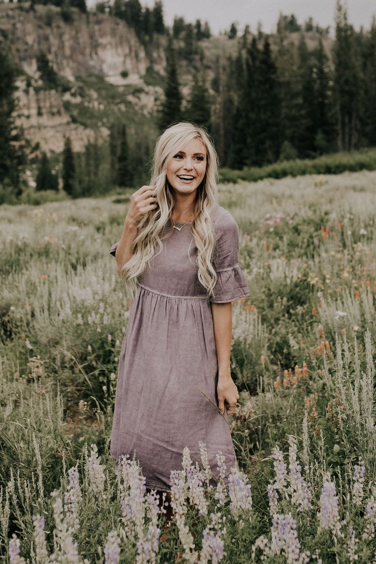 Muted Lavender Dress | ROOLEE