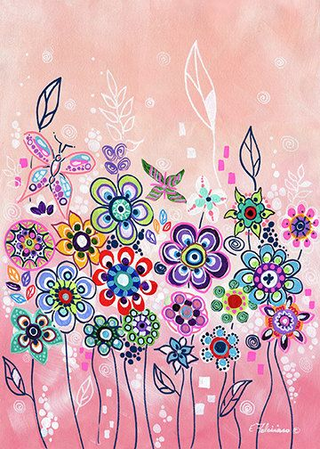 Original Painting Whimsical garden art..The by NYoriginalpaintings, $79.99