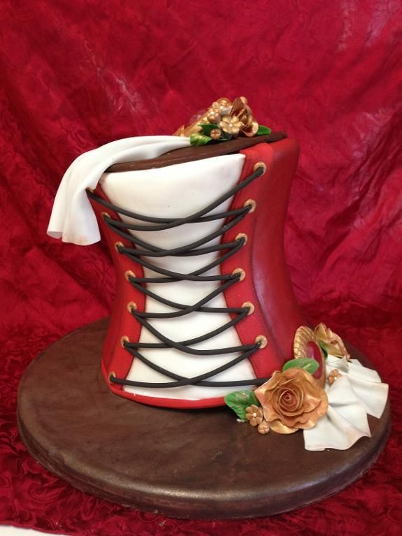Looking for cake decorating project inspiration? Check out steampunk corset by member sabradley.