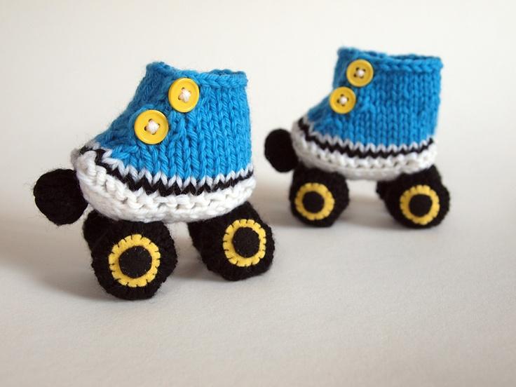 roller skate booties!! Knitting Pinterest My mom ...