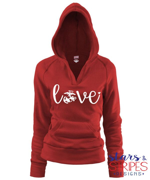 USMC Love V Hoodie. Marine Corps EGA Hero America. Milso wife fiance girlfriend mom sister daughter. Homecoming Deployment Patriotic  https://www.etsy.com/listing/254224434/usmc-love-v-hoodie-marine-corps-ega-hero