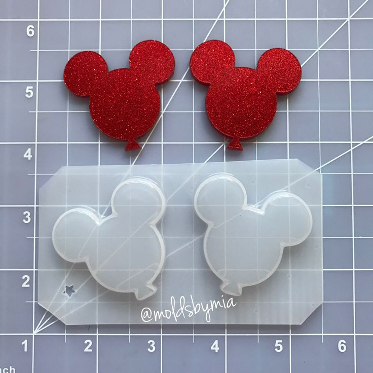 Excited to share the latest addition to my #etsy shop: ON SALE Mouse heads balloons flexible plastic resin mold set  2 pc